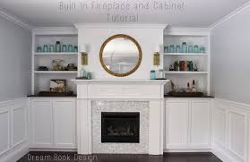 built in fireplace and cabinets tutorial