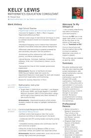 High School Teacher Resume Samples - Visualcv Resume Samples Database