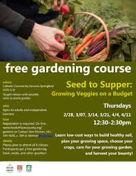 details please plan to attend all 6 classes partints get a free gardening book seeds and other goos