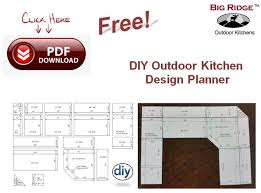 Explains What Options Are Available And Includes Easy Cutouts To Design  Your Outdoor Kitchen Space.