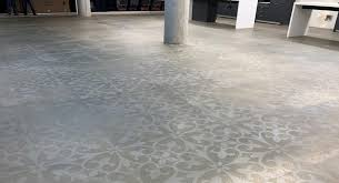 newly stenciled concrete made to look