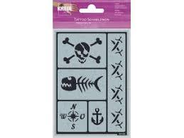 Tetovací šablona Kreul Motiv Pirátská Párty Kreativní Světcz