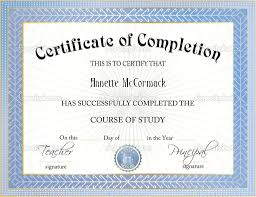 Certificates Of Completion Templates New Certificate Of Certificate Completion Template Word And