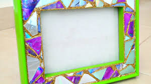 make a mosaic frame from old cds diy crafts guidecentral