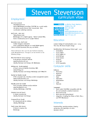 Layout Of A Resume 20 Example Resume Layout Design 32 Best
