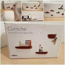 set of 3 vitra corniches shelves designed by bouroullec size s m l eur 149 68 pic fr