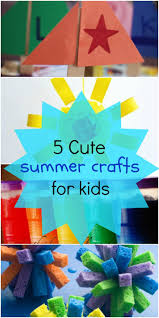 5 Fun Summer Crafts for Kids - Love These Art Project Ideas!