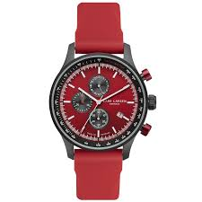 lw33 · mens watch · tachymeter red silicone