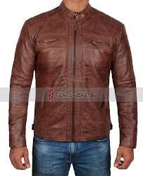 mens distressed leather jacket distressed brown racer jacket