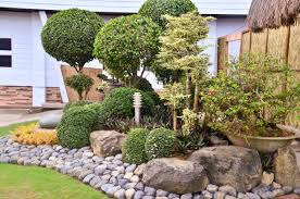 Backyard Rocks Create A Beautiful Corner In The Backyard Of House With