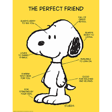 Friendship Chart For School Peanuts The Perfect Friend Poster