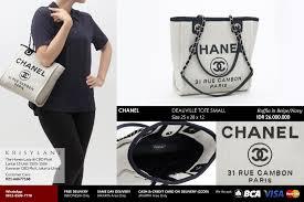 chanel deauville tote. sale price idr 24.700.000 chanel deauville tote
