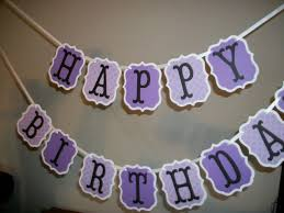 Purple Happy Birthday Banner Happy Birthday Banner This Pretty Purple Party Banner Can Be