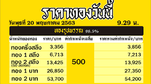 ราคาทองคำวันนี่ วันพุธที่ 20 พฤษภาคม 2563 ราคาทองแท่งบาทละ ราคาทองรูปพรรณวันนี้  20/5/63 ล่าสุด - YouTube