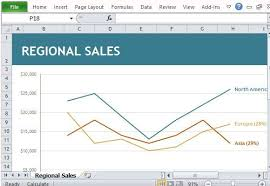 Sales Chart Template Regional Sales Chart Maker Template For Excel Excel