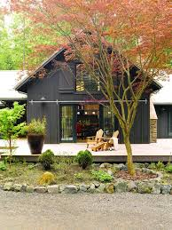 pole barn house plans and prices Bedroom Contemporary   barn    Pole Barn House Plans and Prices Exterior Farmhouse   Adirondack Chairs Barn Door Brown Dark Deck