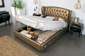 King Storage Bed Frame Image — Modern Storage Twin Bed Design