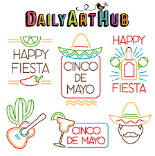 Cinco de Mayo Signs Clip Art Set ...