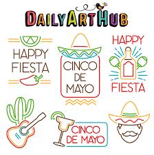 Cinco de Mayo Signs Clip Art Set ...