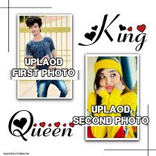 Upload Your Photo To King And Queen Frame