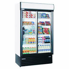 staycold sd1140 upright glass door display fridge white sliding door