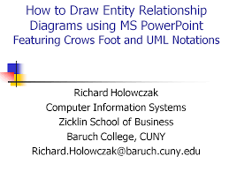 Crow S Foot Notation Drawing Entity Relationship Diagrams Using Powerpoint Holowczak