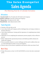 Sales Meeting Agenda Tse 140 How I Use An Agenda When Meeting With Clients