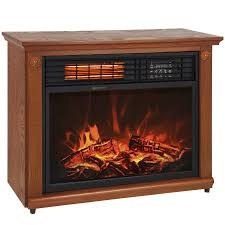 Large Room Infrared Quartz Electric Fireplace Heater Honey Oak ...