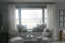 For Bay Windows In A Living Room Window Curtains For Bay Windows Curtain Designs For Windows