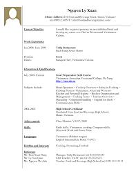 Work Experience On Resume Resume Work Template