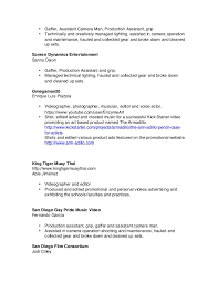gaffer resume