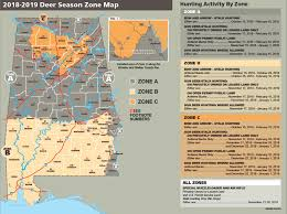season al deer season zone map outdoor alabama