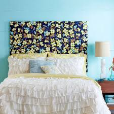 Blue Headboard Design Ideas Diy Upholstered Headboard Bedrooms Beautiful Floral Pattern
