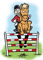 Bildresultat för tecknade hästar hoppning