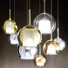 modern globe chandelier glass pendant lighting and brass light