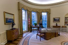 west wing oval office. An Intererior View Of The Oval Office When Empty, At White House, During West Wing