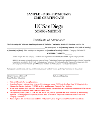 Sample Physicians Cme Certificate