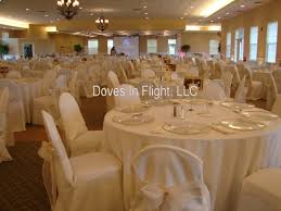ivory sash on ivory chair covers eagle eye banquet center