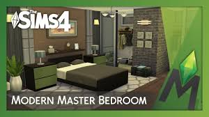 Sims Bedroom The Sims 4 Room Building Modern Master Bedroom Youtube