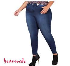 Women Plus <b>size</b> denim pants <b>34-44</b> Highwaist pants Skinny jeans ...