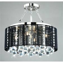 black drum light chandelier glam black drum chandelier with chandelier with drum shade and crystals with