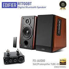 Cặp đôi hoàn hảo cho tín đồ âm nhạc : Loa kiểm âm cao cấp Edifier R1700 BT  và Ampli đèn FX Audio Tube-03 - Dàn âm thanh tại gia [Hà Nội]