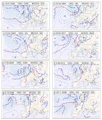 Atmospheric Circulation Types Determined Using The Org And