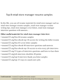 Store Manager Resume Sample top100retailstoremanagerresumesamples15010026035101009conversiongate100thumbnail100jpgcb=110030031007100100 82