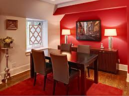 Red Dining Room Sets Traditional Red Dining Room With White Chair Rail Glass Table