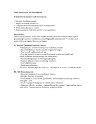 Staff Accountant Job Description I Job Information Of Staff