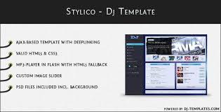 ajax website template. Stylico Dj Template Stylico is an AJAX based website template