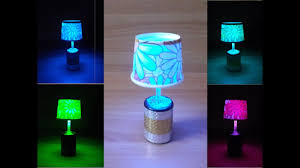 Diy Led Table Night Lamp With Easily Available And Cheap Materials