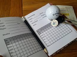 golf log leather golf score journal leather golf log golfing log score card