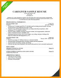 Care Giver Resume Simple Amazing Sample Caregiver Resume No Experience Or Sample Resume For